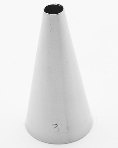 Bico Inox Para Confeitar Liso Caparroz N.3