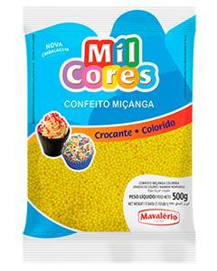 Confeito Miçanga Amarela N.0 Mil Cores Mavalerio 500g