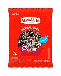 Choco Power Ball Mini Chocolate/Chocolate Branco Mavalerio 500g