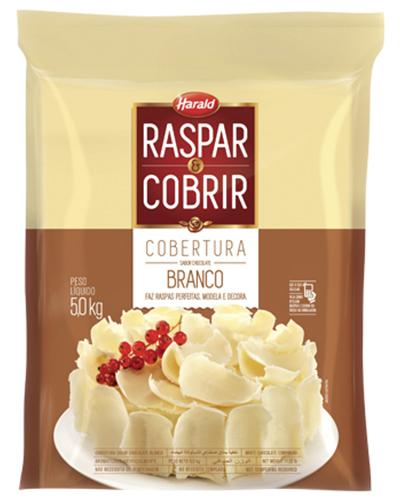 Cobertura Chocolate Branco Raspar e Cobrir Harald 5kg