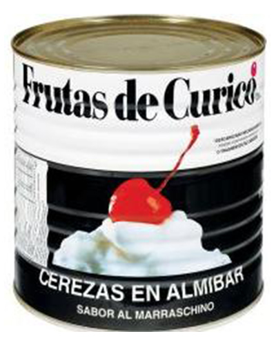 Cereja Marrasquino Sem Talo Curico 1,8kg