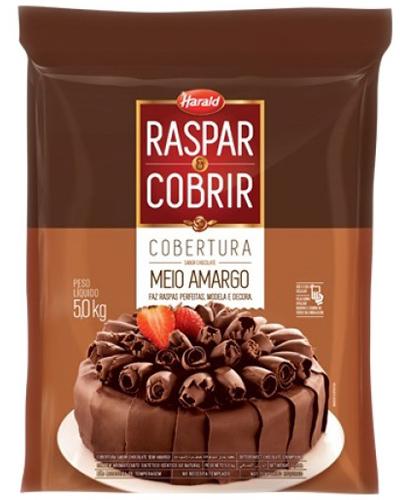 Cobertura Chocolate Meio Amargo Raspar e Cobrir Harald 5kg