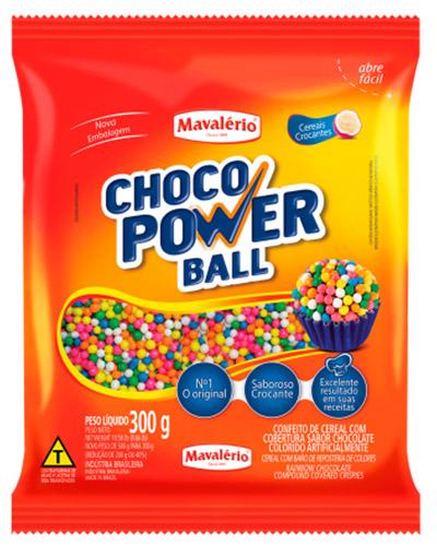 Choco Power Ball Micro Colorido Mavalerio 300g