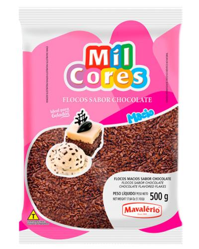 Flocos Macio Sabor Chocolate Mil Cores Mavalerio 500g