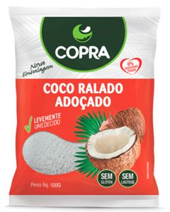 Coco Flocado Úmido Adoçado Copra 1kg
