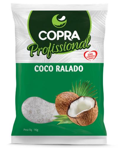 Coco Ralado Médio Úmido Adoçado Copra 1kg