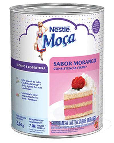 Recheio Cobertura Morango Moça Nestle 2,6kg