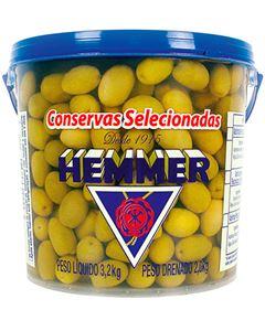 Azeitona Verde Miúda Com Caroço 32/45 Hemmer 2kg