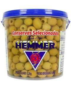 Azeitona Verde Sem Caroço Hemmer 1,8kg