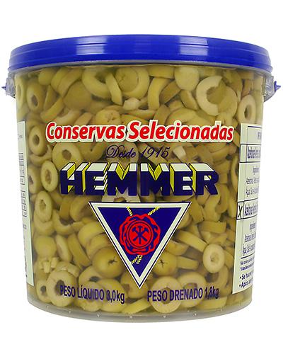 Azeitona Verde Fatiado Hemmer 1,8kg