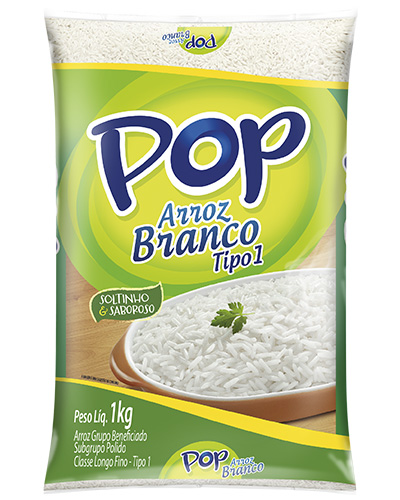 Arroz Pop Branco Tipo 1 Camil 1kg