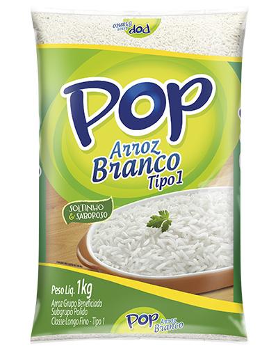 Arroz Pop Branco Tipo 1 Camil 1kg
