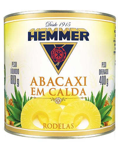 Abacaxi Rodelas Em Caldas Hemmer 400g