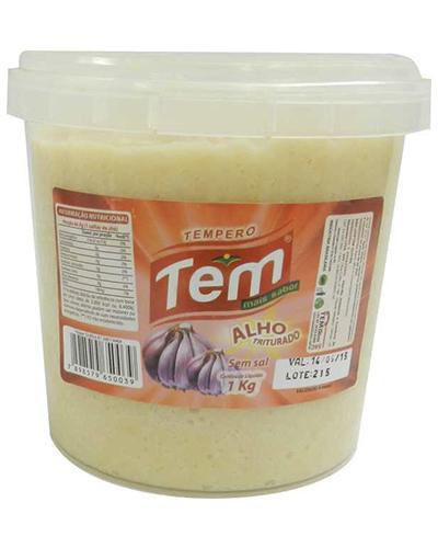 Alho Triturado Sem Sal Tem Mais Sabor Balde 1kg