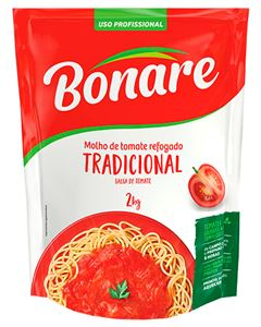 Molho De Tomate Tradicional Bonare Goiás Verde 2kg