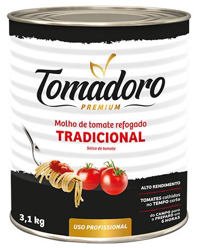 Molho De Tomate Tradicional Tomadoro Goiás Verde 3,1kg