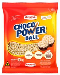 Choco Power Ball Mini Branco Mavalerio 300g