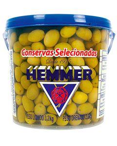 Azeitona Verde Com Caroço 24/28 Hemmer 2kg