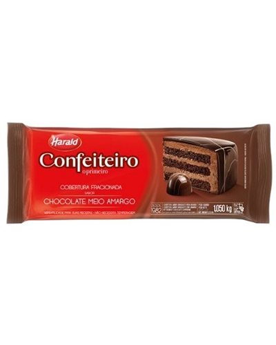 Cobertura Chocolate Meio Amargo Confeiteiro Harald 1,050kg