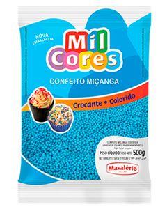 Confeito Miçanga Azul N.0 Mil Cores Mavalerio 500g