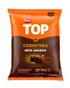 Cobertura Chocolate Meio Amargo Top Gotas Harald 1,050kg