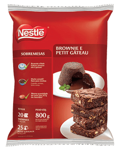 Brownie Petit Gateau Nestle 800g