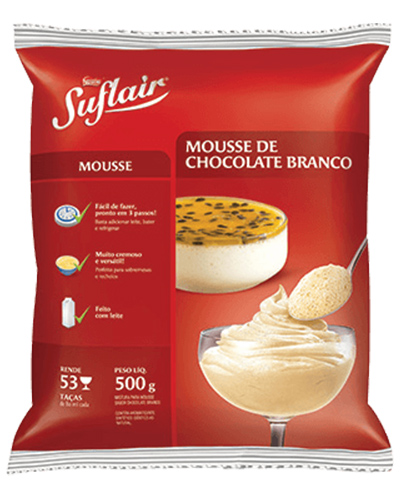 Mousse Suflair Chocolate Branco Nestle 500g