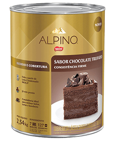 Recheio Cobertura Alpino Nestle 2,54kg