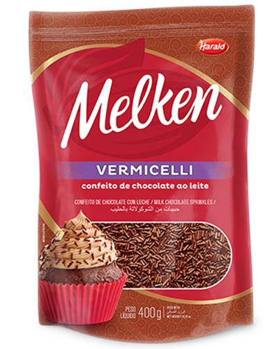 Chocolate Granulado Melken Vermicelli Ao Leite Harald 400g