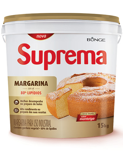 Margarina Suprema Manteiga 80% Lipídios 15kg