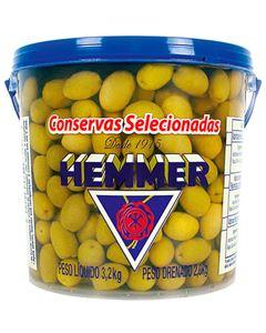 Azeitona Verde Graúda Com Caroço 16/20 Hemmer 2kg