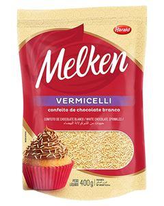Chocolate Granulado Melken Vermicelli Branco Harald 400g