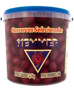 Azeitona Preta Com Caroço 28/32 Hemmer 2kg