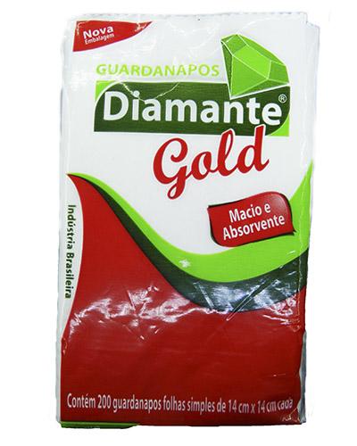 Guardanapo Gold Diamante 14x14cm 200 Folhas