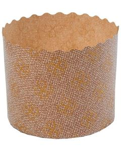 Forma Panetone Fiore Ecopack 100g 70mm x 60mm 100 Unidades