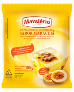 Pó Para Preparo De Sobremesa Sabor Maracuja Mavalerio 100g