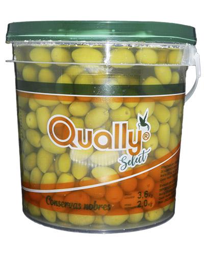 Azeitona Verde Media Com Caroço Qually 2kg