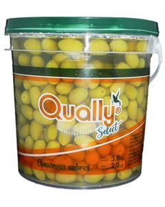 Azeitona Verde Sem Caroço Qually 2kg