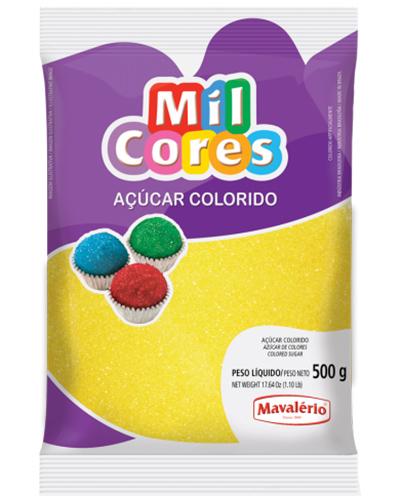 Açúcar Colorido Amarelo Mil Cores Mavalerio 500g