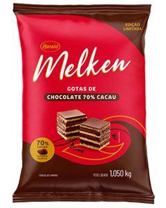 Chocolate Gotas Melken 70% Cacau Harald 1,050g