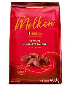 Chocolate Gotas Melken Belga Ao Leite Harald 400g
