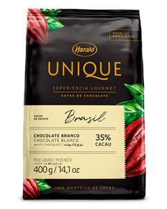 Chocolate Em Gotas Bahia Branco 33% Unique Harald 400g