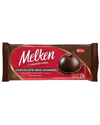 Chocolate Meio Amargo Melken Harald 1,050kg