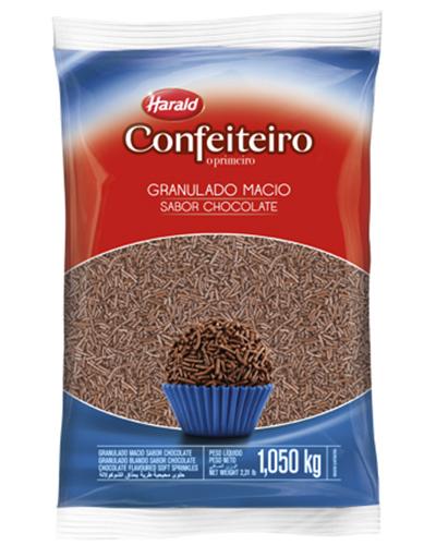 Granulado Macio Chocolate Confeiteiro Harald 1,050kg