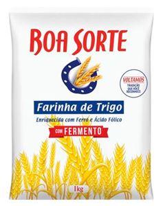 Farinha De Trigo Com Fermento Boa Sorte 1kg