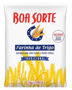 Farinha de Trigo Tipo 1 Boa Sorte 1kg