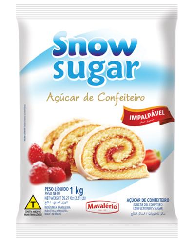 Açúcar Confeiteiro Impalpável Snow Sugar 1kg
