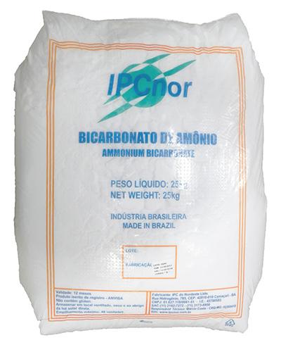 Bicarbonato de Amônia IPC 25kg